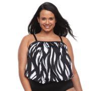 Plus Size Apt. 9® Wavy Blouson Tankini Top