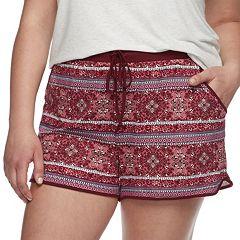 Juniors' Plus Size Mudd® Peached Shorts