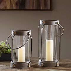 Madison Park Glass Lantern Candle Holder