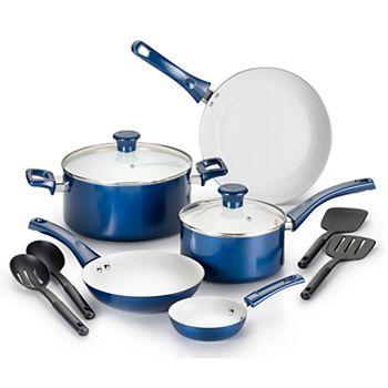 T-Fal Inspirations 11-Pc. Ceramic Cookware Set (Blue)