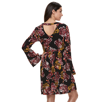 Women's Nina Leonard Pleated Keyhole Dress