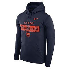 Men's Nike Illinois Fighting Illini Therma Pullover Hoodie
