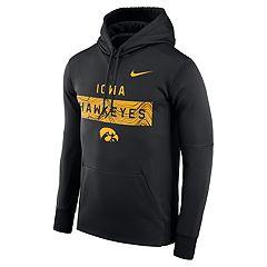 Men's Nike Iowa Hawkeyes Therma Pullover Hoodie