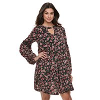 Women's Nina Leonard Floral Balloon-Sleeve Shift Dress
