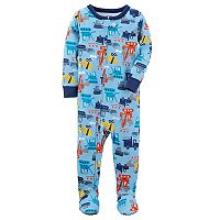 Baby Boy Carter's Graphic One-Piece Footed Pajamas