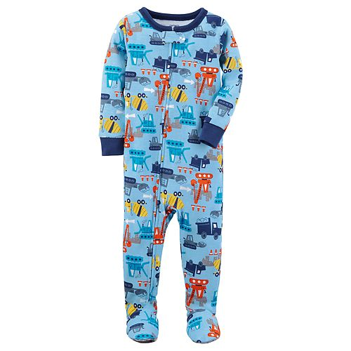 543e9ee6caf4 Baby Boy Carter's Graphic One-Piece Footed Pajamas