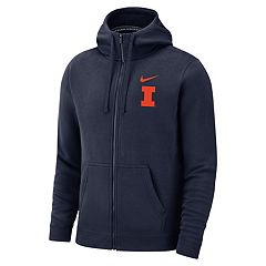 Men's Nike Illinois Fighting Illini Club Fleece Full-Zip Hoodie