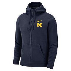 Men's Nike Michigan Wolverines Club Fleece Full-Zip Hoodie