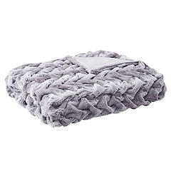 Hampton Hill Lifestyle Ruched Faux Fur Throw