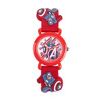 Marvel The Avengers Assemble Captain America Kids' Time Teacher Watch