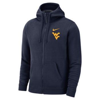 Men's Nike West Virginia Mountaineers Club Fleece Full-Zip Hoodie