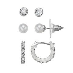 Chaps Hoop & Stud Nickel Free Earring Set
