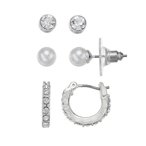 Chaps Hoop & Stud Nickel Free Earring Set