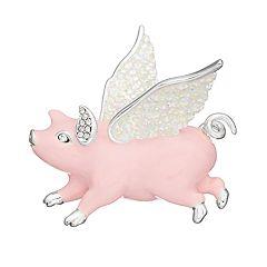 Napier Flying Pig Pin
