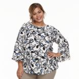 Plus Size Apt. 9® Bell-Sleeve Blouse