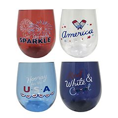 Celebrate Americana Together 4-pc. Stemless Acrylic Wine Glass Set