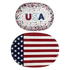 Celebrate Americana Together 2-pc. Oval Treat Tray Set