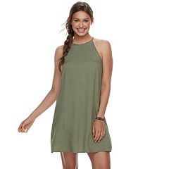 Juniors' Mudd® Halter Swing Dress