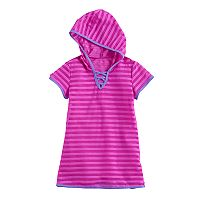 Girls 7-16 Free Country Hooded Mesh Stripe Swimsuit Cover-Up