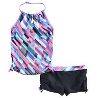 Girls 4-16 Free Country Halter Tankini Top & Shorts Swimsuit Set