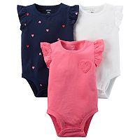 Baby Boy Carter's 3 pkLace Flutter Sleeve Bodysuits