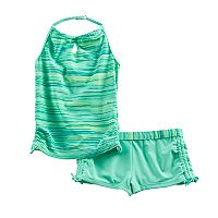 Girls 4-16 Free Country Space-Dyed Halter Tankini Top & Shorts Swimsuit Set