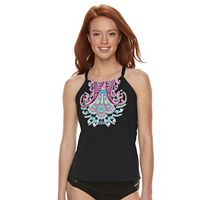 Women's Apt. 9® Scroll High-Neck Tankini Top