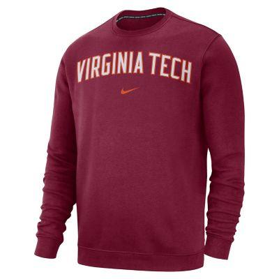 Men's Nike Virginia Tech Hokies Club Sweatshirt