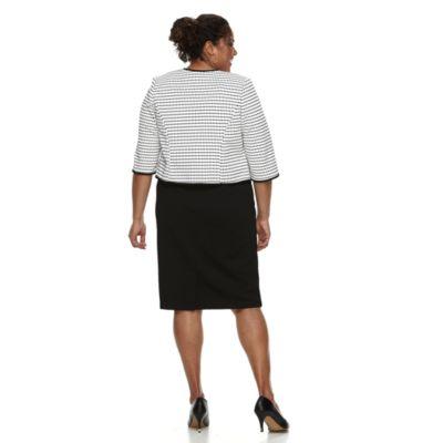 Plus Size Maya Brooke Colorblock Dress & Jacket Set