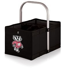 Picnic Time Wisconsin Badgers Urban Folding Picnic Basket