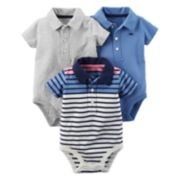 Baby Boy Carter's 3-pk. Polo Bodysuits