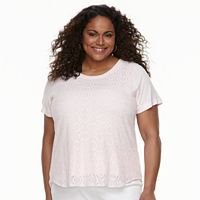 Plus Size Croft & Barrow® Lace Top