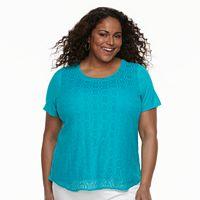Plus Size Croft & Barrow® Lace Top