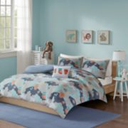 INK+IVY Kids Luna Cotton Printed Duvet Cover Set