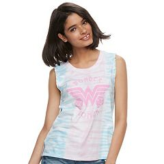 Juniors' DC Comics Wonder Woman Tie-Dye Tank Top