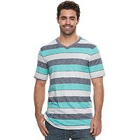 Big & Tall Urban Pipeline® Regular-Fit Striped V-Neck Tee