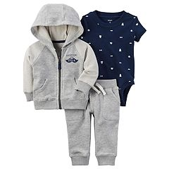 Baby Boy Carter's Bear Bodysuit, Hooded Jacket & Pants Set