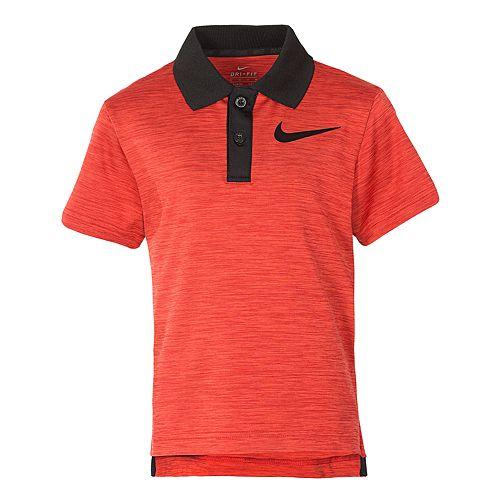 Boys 4-7 Nike Dri-FIT Cross Dyed Heathered Polo