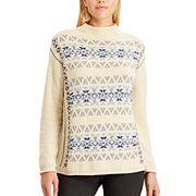 Petite Chaps Fairisle Mockneck Sweater