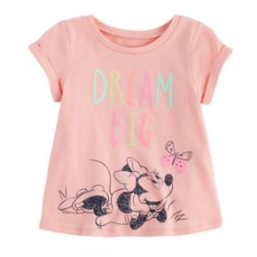 "Disney's Minnie Mouse Baby Girl ""Dream Big"" Swing Tee by Jumping Beans®"