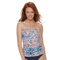 Women's Apt. 9® Bust Enhancer Paisley Badeaukini Top