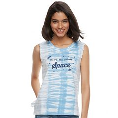 Juniors' 'Give Me Some Space' Tie-Dye Tank Top