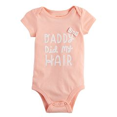 Baby Girl Jumping Beans® 'Daddy Did My Hair' Bodysuit