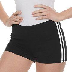Juniors' SO® Striped Side-Pieced Bike Shorts