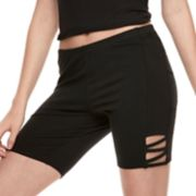 Juniors' SO® Cutout Bike Shorts
