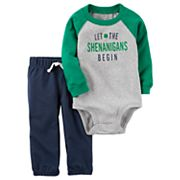 Baby Boy Carter's St. Patrick's Day 'Let the Shenanigans Begin' Bodysuit & Pants Set