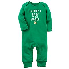 Baby Carter's St. Patrick's Day 'Luckiest Baby in the World' Coverall
