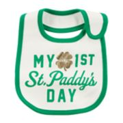 "Baby Carter's St. Patrick's Day ""My Very 1st St. Paddy's Day"" Bib"