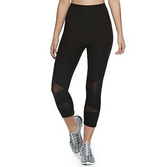 Juniors' SO® High-Rise Mesh Yoga Capris
