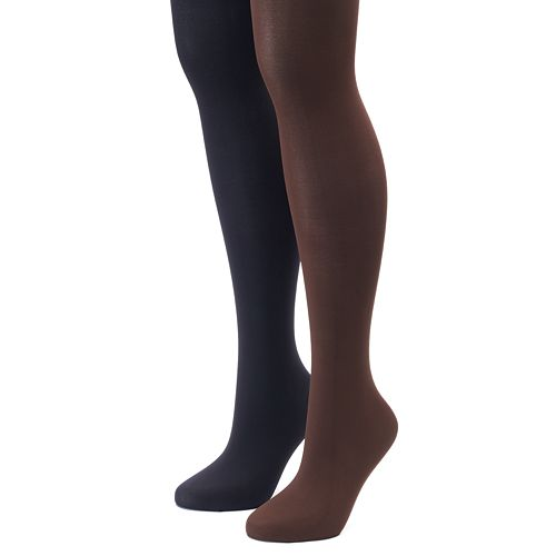 Plus Size Apt. 9® 2-pk. Solid Tights